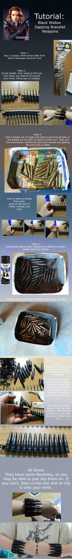 Tutorial: Black Widow Bullet Bracelets