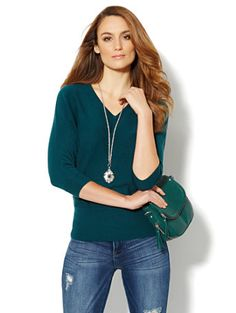 Shop Waverly V-Neck Dolman Sweater . Find your perfect size online at the best price at New York & Company.