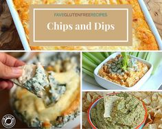 We've all had those cravings for something saltythe craving that only a good bag of chips can satisfy. These 20 Awesome Gluten Free Recipes for Chips and Dips will come to your rescue when you're in the grips of a snack attack. Gluten Free Appetizers, Gluten Free Desserts, Gluten Free Recipes, Appetizer Recipes, Snack Recipes, Healthy Recipes, Snacks, Party Appetizers, Dip Recipes