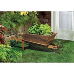 Country Flower Cart Planter. This little wooden flower cart will be the perfect showcase for plants in your yard. Then you can move it somewhere else as the seasons change.