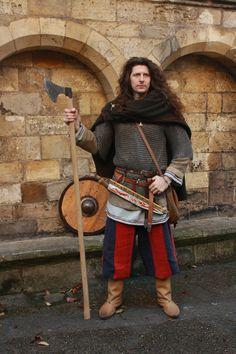 Handsome Viking Guide - Sigwulf at St. Olave's Church in York.    www.facebook.com/originalvikingwalk    e: info@originalvikingwalk.co.uk    t: +44(0)7716141787 (Neil)   @VikingWalk   www.northernforge.co.uk