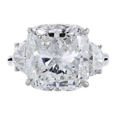 Harry Winston  Cushion Cut Diamond Ring GIA 8.80cts F vvs2 - Shreve, Crump & Low