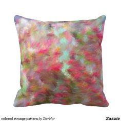 colored strange pattern throw pillows