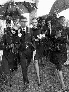 Vogue Italia Aug. 2008 - Silent by Steven Meisel  Models: Iris Strubegger, Karen Elson, Guinevere van Seenus, and Linda Evangelista