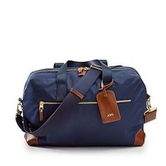 Terminal 1 Soft Sided Carry-On, Navy-Brown - Travel - Weekenders + Overnighters - Mark & Graham Travel Backpack, Travel Bags, Travel Set, Makeup Carrying Case, Travel Size Toiletries, Checked Luggage, Mark And Graham, Carry On Luggage, Buy Luggage
