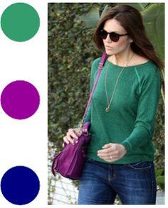 How to use colorful bags... http://abigimbroglius.blogspot.com.br/2013/08/como-usar-bolsas-coloridas.html
