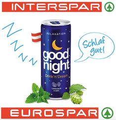 Lange Nacht der Entspannung  NEU IM REGAL BEI EUROSPAR und INTERSPAR IN GANZ ÖSTERREICH  GOODNIGHTDRINK ist ein alkoholfreier ENTSPANNUNGSDRINK mit Kräuterextrakten aus der Zitronenmelisse und Hopfen. Diese traditionellen Kräuter helfen Ihnen sich von Stress zu befreien und einen ruhigen und erholsamen Schlaf zu finden.  #healthy #yoga #sleepwell #relax #goodnight #meditation #foodblogger #food #softdrink #luxury #lifestyle #blogger #viennablogger #igerswien #igersvienna #entspannung Beverages, Drinks, Foodblogger, Pepsi, Stress, Soda, Canning, Meditation, Non Alcoholic Beverages