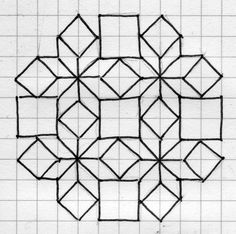 How To Draw Islamic Geometric Patterns . free drawing patterns to trace great design for a EPP block Geo Line Drawing Barn Quilt Designs, Barn Quilt Patterns, Quilting Designs, Paper Patterns, Blackwork Patterns, Zentangle Patterns, Cross Stitch Patterns, Graph Paper Drawings, Graph Paper Art