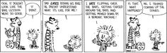 Calvin and Hobbes. Dad's bike lessons
