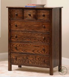 Amish craftsmanship, your custom choices, and functional design come together in the Peaceful Dreams Series Chest of Drawers for your nursery.