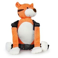 Goldbug Baby Harness Reins (Tiger) Includes fun pouch for toys.. Convenient safety buckles.. Safety rein with secure clip attachment.. Machine Washable.. Made of 100% polyester. Complies fully with British Standards BS EN 13210:2004..  #Goldbug #BabyProduct