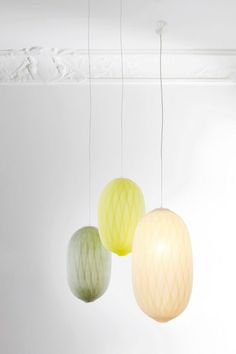 'COCON MALADE' lamps from Bel & Bo, handmade with gauze bandage