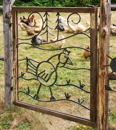 gates — creative works of jeremy furnish Garden Gates And Fencing, Garden Doors, Fence Gate, Fences, Mexican Interior Design, Chicken Garden, Little Gardens, Wrought Iron Gates, Art Walk