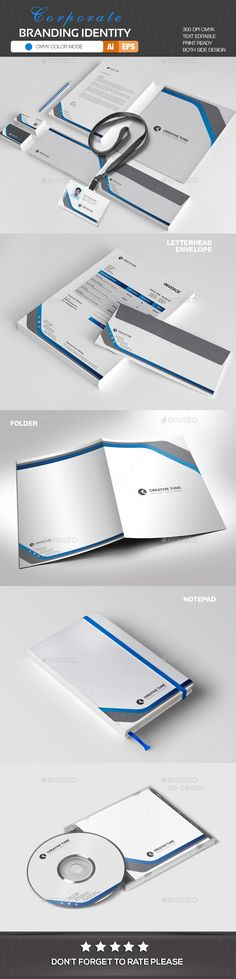 #Corporate #Identity - #Stationery Print Templates Download here: https://graphicriver.net/item/corporate-identity/20183402?ref=alena994