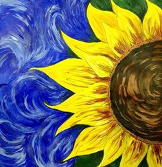 Sunflower Art 295 Best Easy Acrylic Painting Ideas Images On . Painting & Drawing, Diy Painting, Beginner Painting, Flower Painting Canvas, Simple Acrylic Paintings, Knife Painting, Painting Flowers, Rock Painting, Wine And Canvas