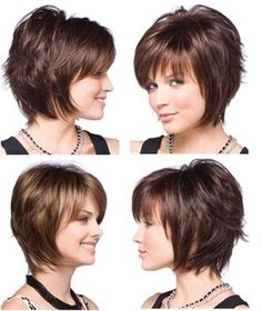 Short layers, side view. I like upper left, but not lower left. What is the difference in the cut?
