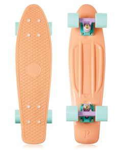 Penny Skateboard Peach Pastel at Watershed Penny Skateboard, Board Skateboard, Skateboard Design, Electric Skateboard, Skateboard Girl, Pastel Penny Board, Long Skate, Cruiser Boards, Skater Girls