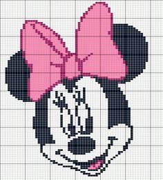 "Child Knitting Patterns Inventory photograph of ""minnie mouse knitting sample"" B. Crochet , Child Knitting Patterns Inventory photograph of ""minnie mouse knitting sample"" B. Child Knitting Patterns Inventory photograph of ""minnie mouse knit. Baby Knitting Patterns, Knitting Charts, Crochet Patterns, Crochet Disney, Graph Crochet, Crochet Cross, Disney Cross Stitch Patterns, Cross Stitch Designs, Cross Stitch Baby"