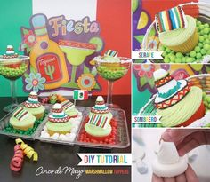 DIY Tutorial: Cinco de Mayo Marshmallow Cupcake Toppers on HWTM.com