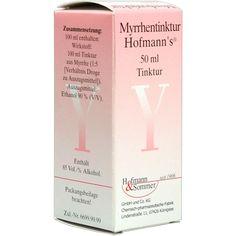 MYRRHENTINKTUR Hofmanns:   Packungsinhalt: 50 ml Tinktur PZN: 00691122 Hersteller: Hofmann & Sommer GmbH & Co. KG Preis: 2,32 EUR inkl.…