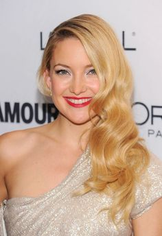 Bright Golden Blonde: According to Kate Hudson, the brightest shade of gold never has to be brassy.   - MarieClaire.com