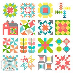 Quilty Stitches Sampler Along - free pattern. Thankyou to the designer for sharing it :)