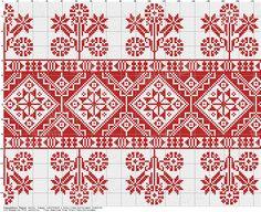 Magyar Néprajzi múzeum anyagából válogatvaNM 126858 Párnavég mintája Készítés ideje: XIX. század második fele Készítés helye: Kalotaszeg (Kolozs vm.) Cross Stitch Sampler Patterns, Cross Stitch Borders, Cross Stitch Samplers, Cross Stitching, Palestinian Embroidery, Hungarian Embroidery, Folk Embroidery, Chain Stitch Embroidery, Embroidery Stitches