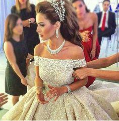 Beautiful off the shoulder wedding dress
