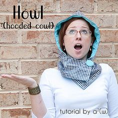 Howl: hooded cowl sewing tutorial. Super easy!