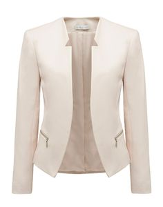 Forever New Milana cut-away blazer and other apparel, accessories and trends. Browse and shop related looks. Look Blazer, Blazer Jacket, Tailored Jacket, Pink Jacket, Blazer Outfits, Casual Outfits, Fashion Outfits, Suits For Women, Jackets For Women