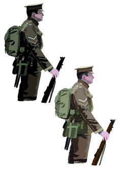 This page shows one effect that I have used on my soldier drawing, The effect that I had used on the left soldier was Fresco, and I had put him next to my final soldier drawing because I wanted to see the difference between them both.