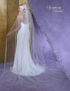 Symphony Bridal 6151VL Beaded Cathedral Wedding Veil