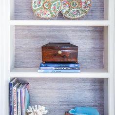 lavender grasscloth : blue print interiors
