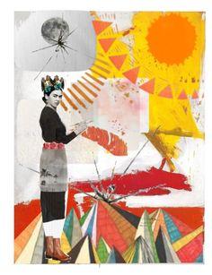 """""""Dear Frida K."""" by lisa-cuddy on Polyvore featuring art"""
