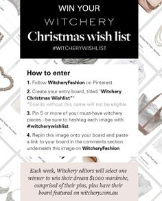 Sumputh Witchery Christmas wish list 2013 All I Want For Christmas, Best Christmas Presents, Christmas Wishes, Christmas Day Outfit, Event Styling, Summer Wardrobe, Storage Solutions, Landscapes, Boards