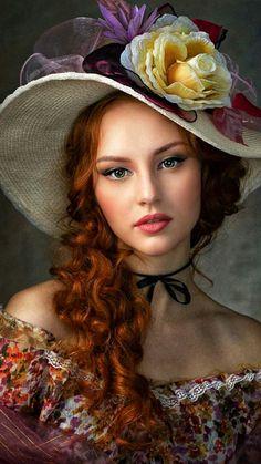 Fantasy Photography, Photography Women, Portrait Photography, Beautiful Gif, Beautiful Redhead, Beautiful Women, Female Portrait, Female Art, Romantic Girl