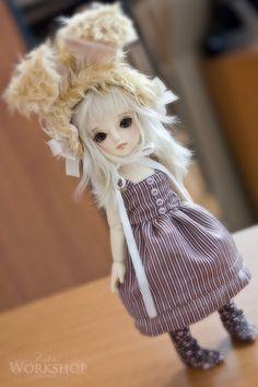 cute BUNNY EARS for YoSD tiny super dollfie dolls volks by kalcia, $19.90