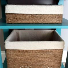 s 17 brilliant ways to reuse your empty cardboard boxes, home decor, repurposing upcycling, Make Rope Wrapped Storage