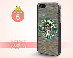 Wood Starbucks  iPhone 5 Case Case for iPhone  2A0011 by CaseFrog, $10.99