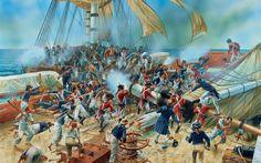 1805 c French boarding a British warship