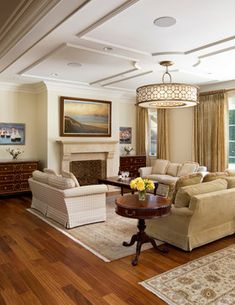 Like The Ceiling Treatment Living Rooms Traditional Living Room San Francisco Rki