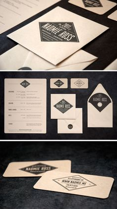 Naomie Ross Identity Suite via Eva Black Design