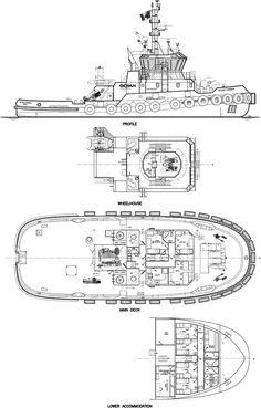 Boat Building Plans, Boat Plans, Model Building, Tug Boats, Lake Boats, The Good German, Deck Plans, Inside Design, Super Yachts