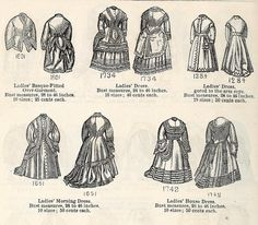 Victorian Ladies Fashion of 1871 - Dresses 1 | Flickr - Photo Sharing!