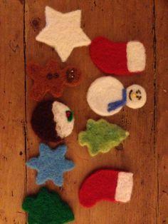 Needle Felt Christmas Decorations