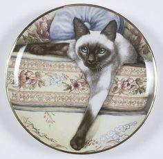 Franklin Mint Daphne Baxter Cats Blue Eyes - No Box