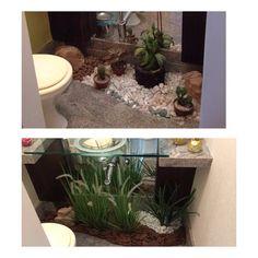"""22 curtidas, 5 comentários - A2 Arquitetura Natal (@a2arquitetura) no Instagram: """"Novas leituras... novos ambientes... Jardim  do lavabo com a assinatura da @okkainteriores para…"""""""