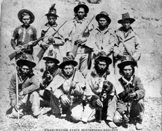 Cowlitz Indian War Rangers, Lewis County, Washington, ca Source. Indian Tribes, Native Indian, Native American Genocide, Native Americans, Wild West Outlaws, Wild West Cowboys, First Nations, White Man, Pacific Northwest