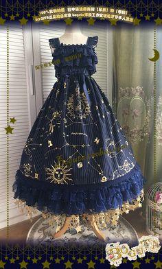 定金 BOGUTA LOLITA 把闪闪的星空穿在身上!星星纱裙-华丽up版-淘宝网全球站