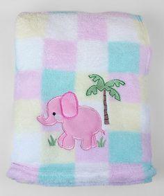 Look what I found on #zulily! Pink Elephant Plush Blanket #zulilyfinds